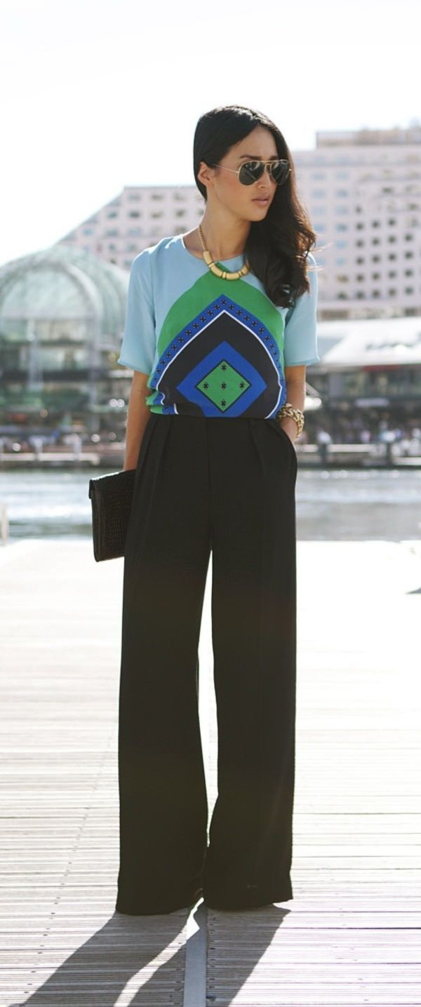35 Chic Wide Leg Pants Outfits to Steal