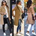 37 Ideas Sneakers Casual Style Camel Coat
