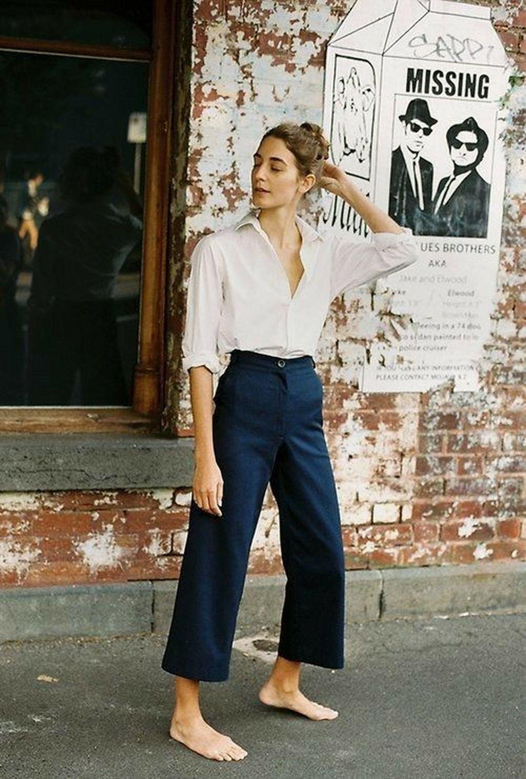 38 Lovely Wide Leg Cropped Jeans Ideas For Women