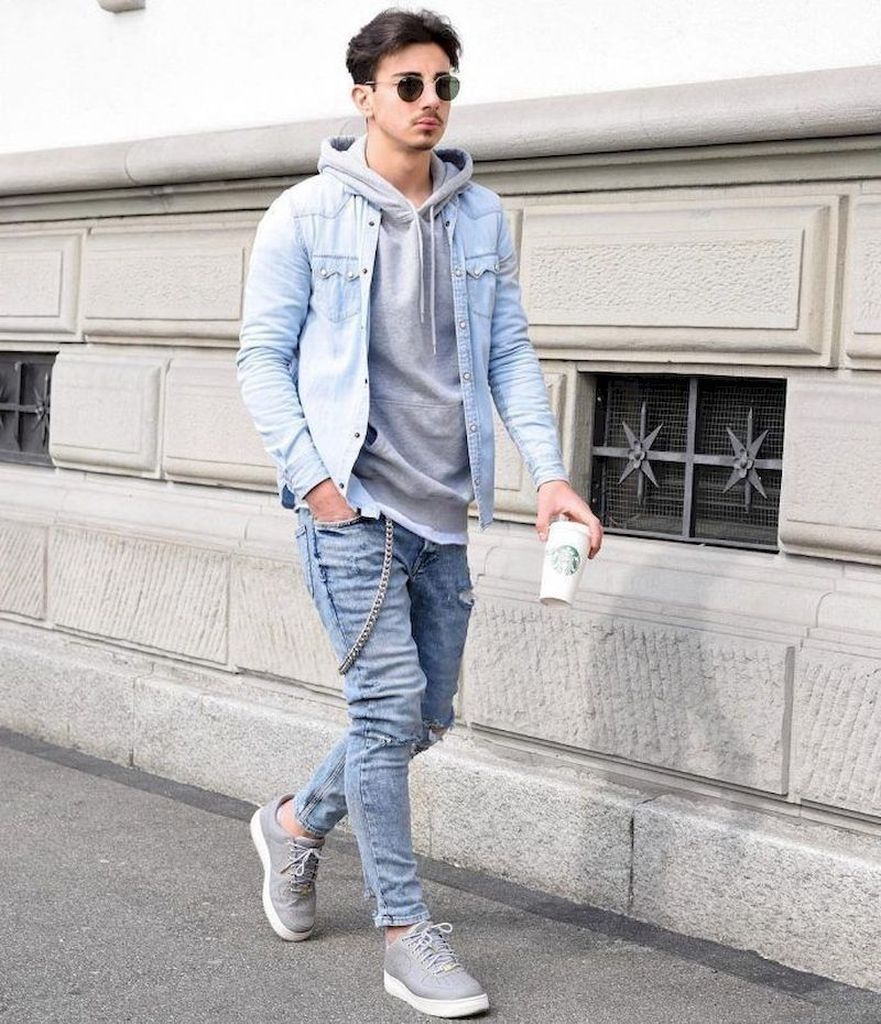 38 Stylish Denim Jackets Ideas for Men