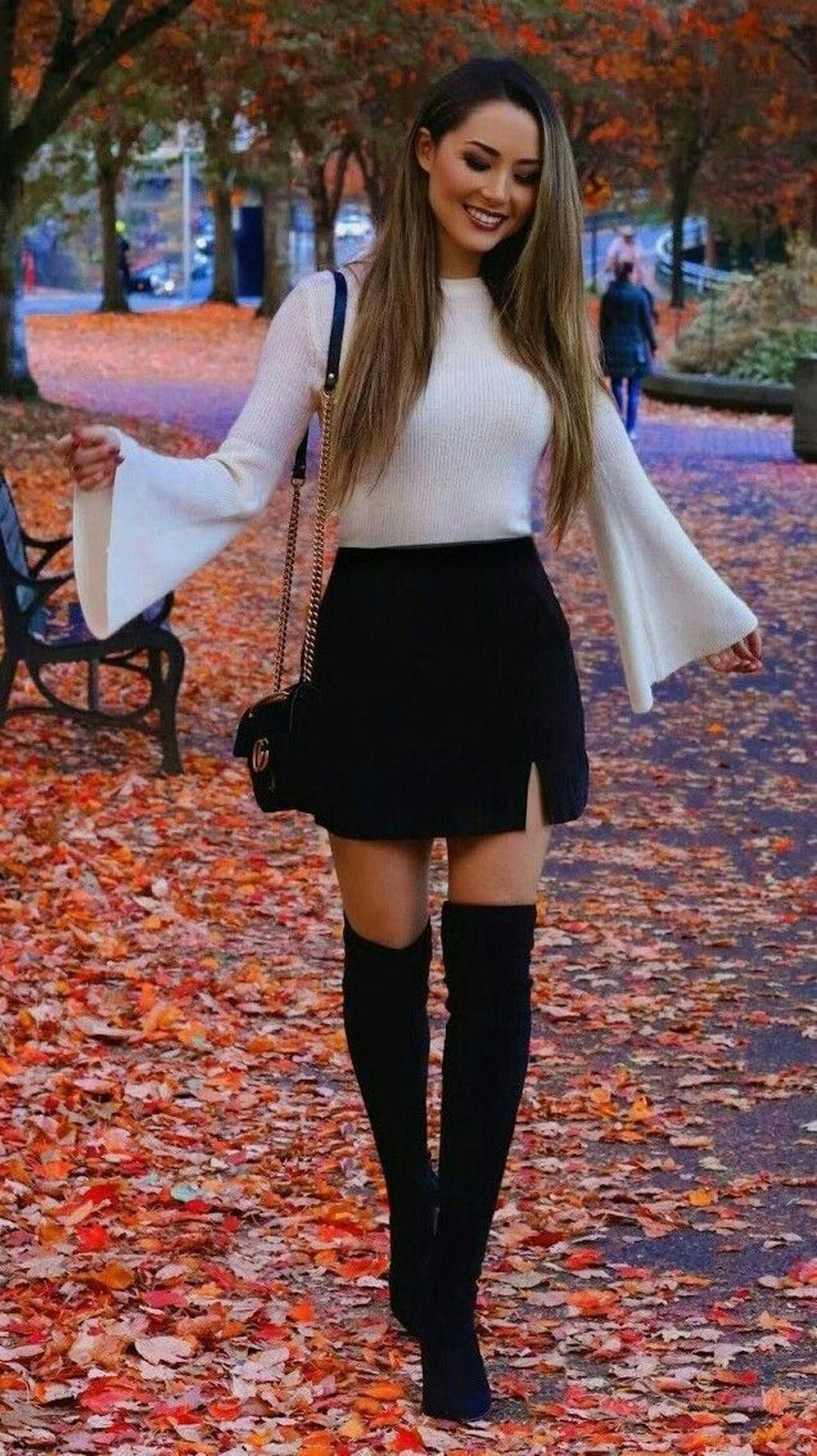 39 Adorable Winter Outfits Ideas Boots Skirts