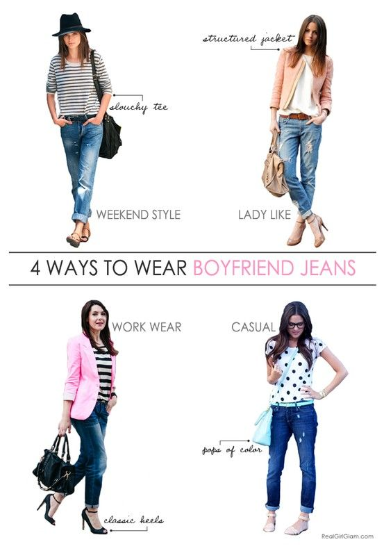 4 Ways to Wear Boyfriend Jeans