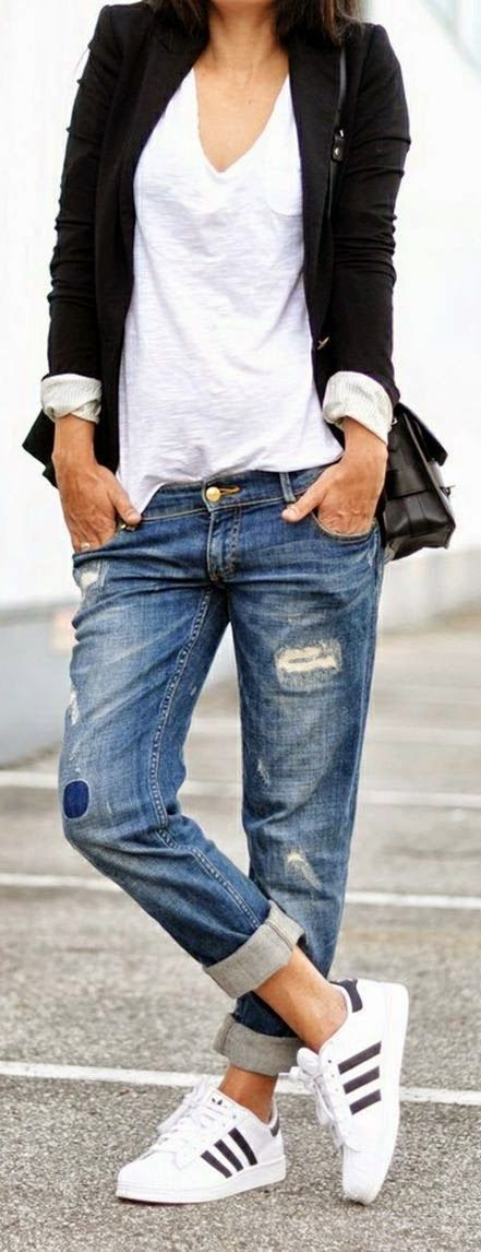 40 Outfit Ideas To Wear Your Boyfriend Jeans And Still Look Awesome