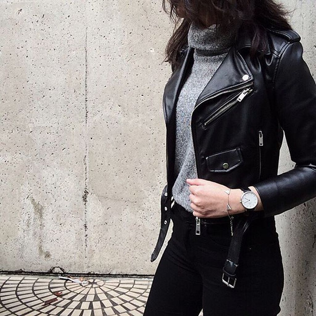 41 Trending Black Leather Women Jacket Outfits Ideas Suitable For Fall – TILEPENDANT