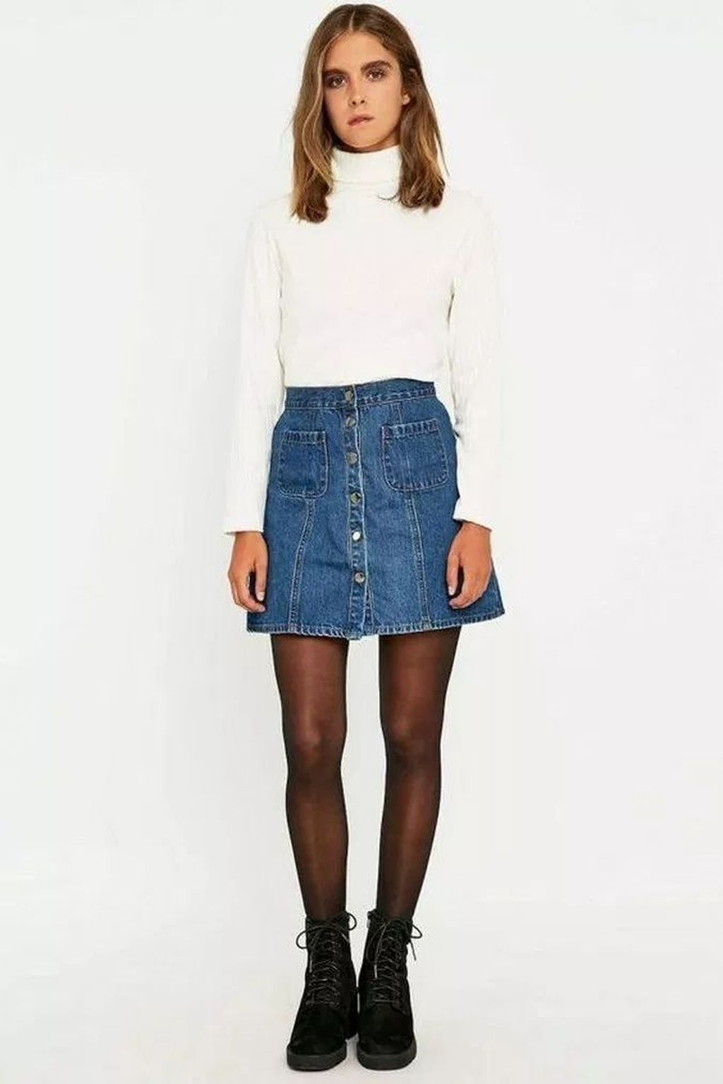 43 Elegant Denim Skirts Outfits Ideas