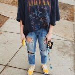 44 Awesome Ideas How To Wear A Ripped Jeans This season - Denim Tee , ripped jea...