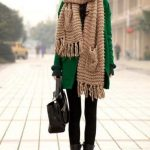46 Ideas how to wear a blanket scarf with a coat big scarves