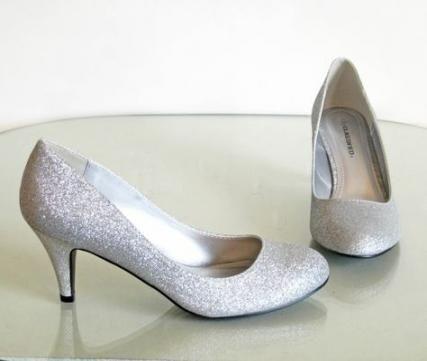 46 ideas for wedding shoes low heel silver glitter