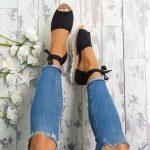 5 Colors 2018 Women Summer Platform Espadrilles Fashion Style Flip-flop Sandals Flat Womens Sandals Bandage Sandals Gladiator Sandalias