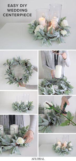 5 Ways to DIY a Centerpiece with Cylinder Vases | Wedding Centerpieces Diy Cheap | Wedding Ce…