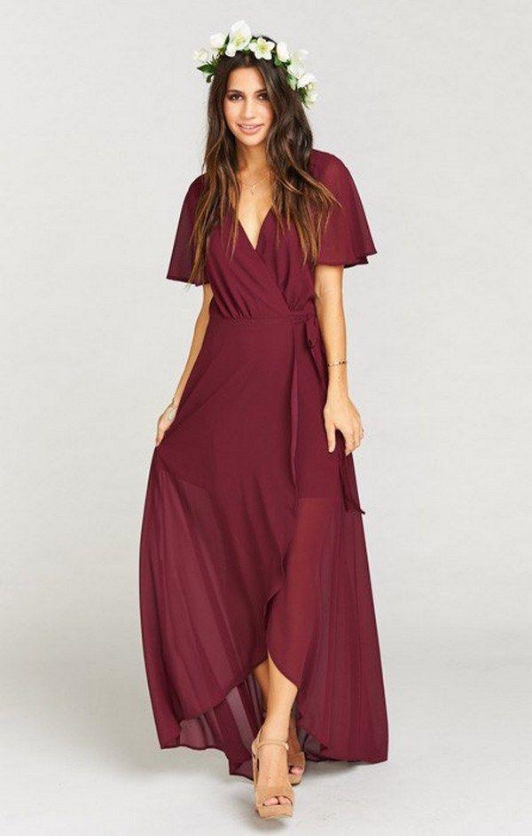 55 Burgundy Bridesmaid Dresses for Fall Winter Weddings