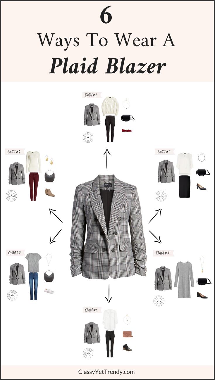 6 Ways To Wear A Plaid Blazer