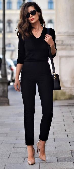 60+ Spring and Summer All Black Outfits Ideas