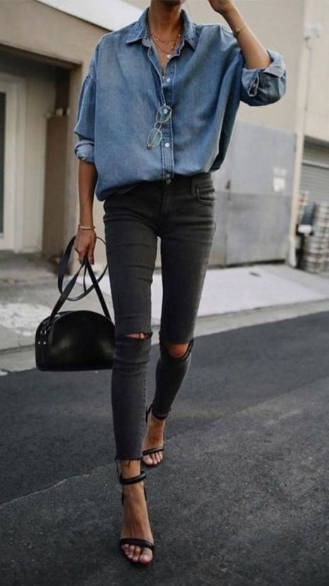 70+ Younger Looks With Double Denim Ideas