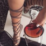 $80.99 Dresswe.com SUPPLIES Gray Sandals Faux Suede Lace-Up Gladiator Sandals