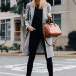 A Dressy Way to Wear a Grey Wool Coat (Fashion Jackson Blog)