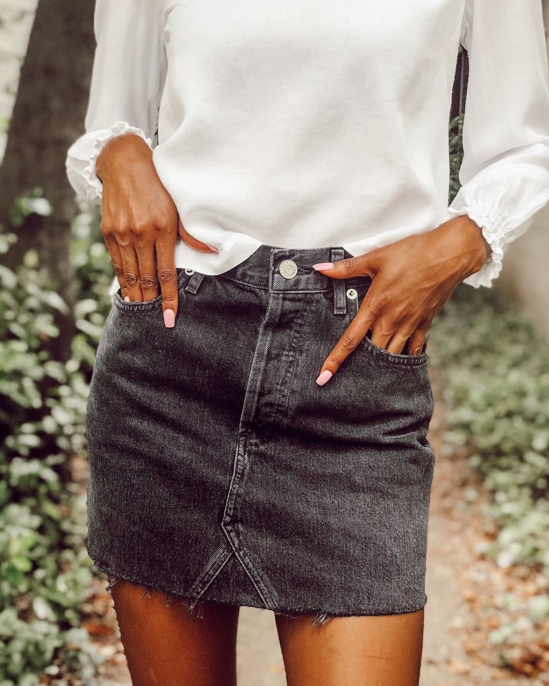 A Gold E Denim Skirt