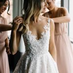 A-line Vintage Lace Wedding Gowns Illusion Neck Wedding Dresses Wedding Dress A