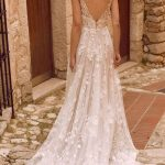 A perfect secret garden wedding gown  - rich botannical embroidered lace appliq...