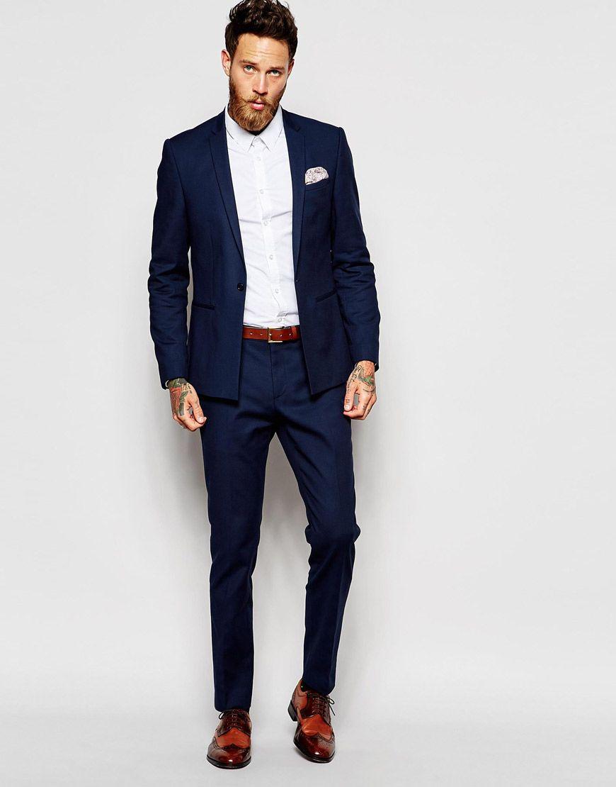 ASOS Skinny Suit In Navy  [Mens fashion] #fashion // #men // #mensfashion