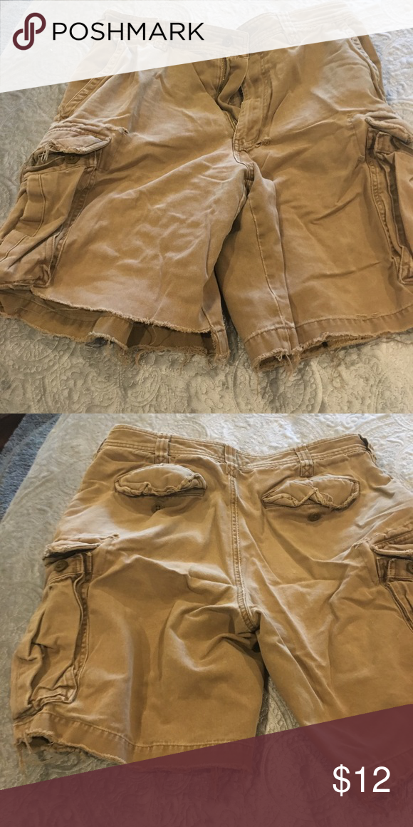 Abercrombie And Fitch Cargo Shorts Very well worn Abercrombie and Fitch cargos, …