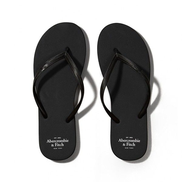 Abercrombie & Fitch Rubber Flip Flops ($7.50) ❤ liked on Polyvore featuring sh…
