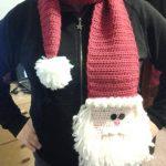 Adorable Crochet Santa Claus Scarf with Beard