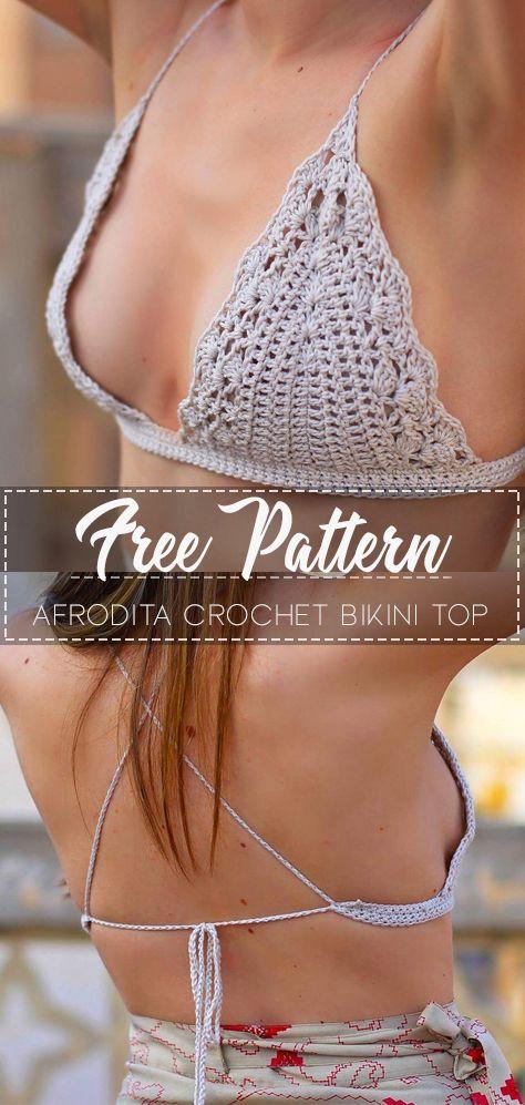 Afrodita crochet bikini top – Pattern Free
