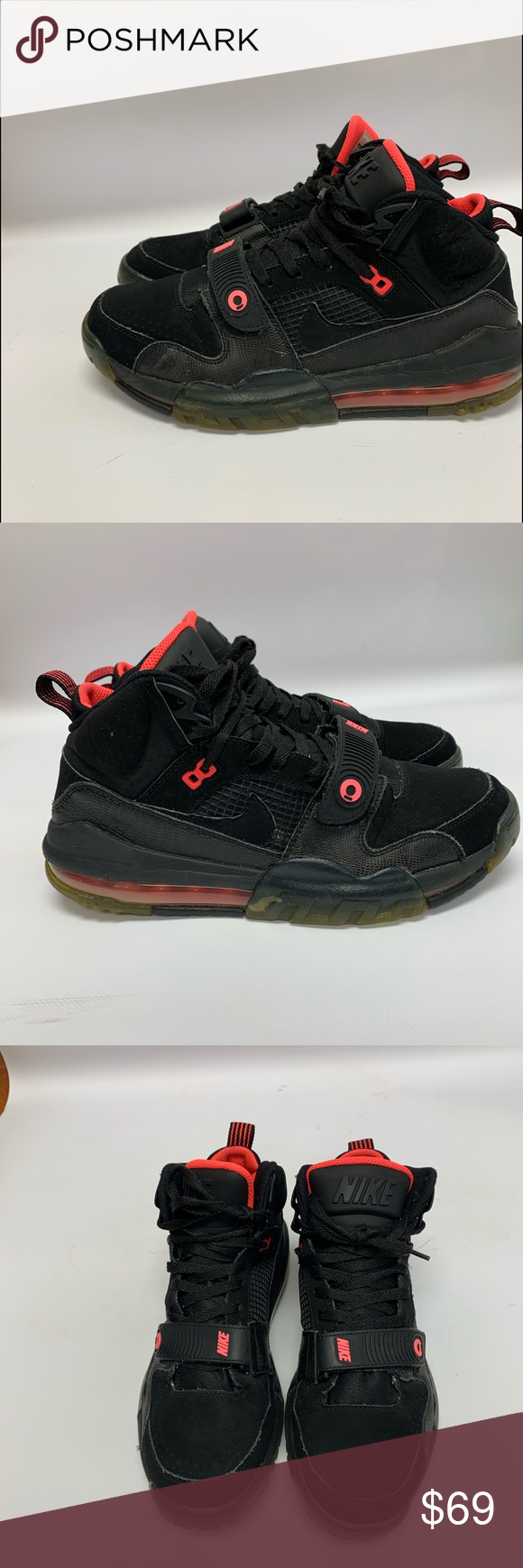 Air Max BO Jackson Men's Shoes Air Max BO Jax Men's Shoes Black/Black-Hyper Punc…