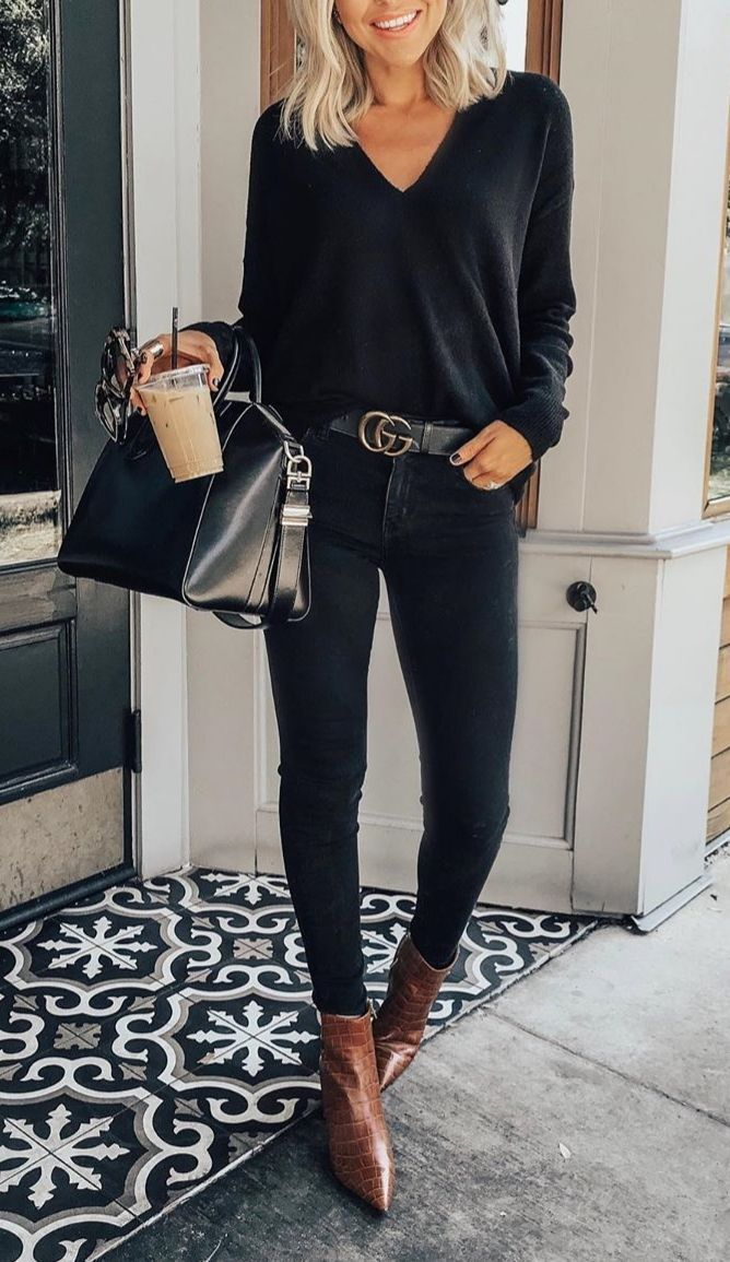All black look for fall