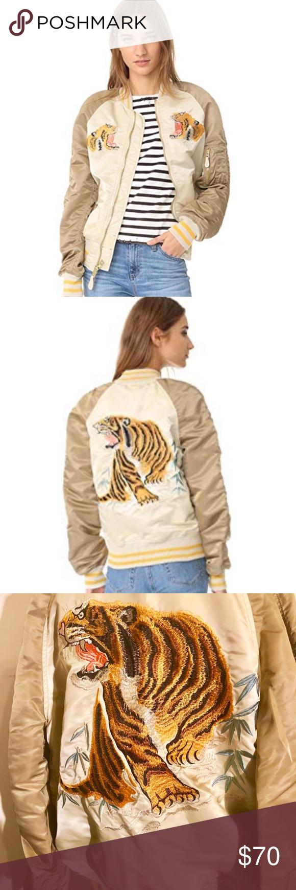 Alpha Industries Tiger Souvenir Flight Jacket EUC Limited Edition Tiger Souvenir…