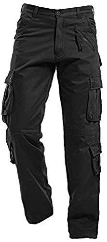 Amazing offer on AIZESI Winter Warm Men Cargo Pants Work Trousers,Fleece Lined,Cotton,Outdoor Hiking Skiing Traveling Combat Windproof online