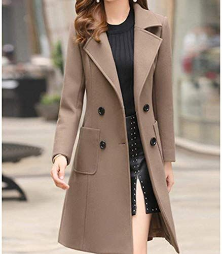 Amazing offer on Riva Ward Women's Daily Basic Fall & Winter Long Trench Coat, Solid Colored Turndown Long online