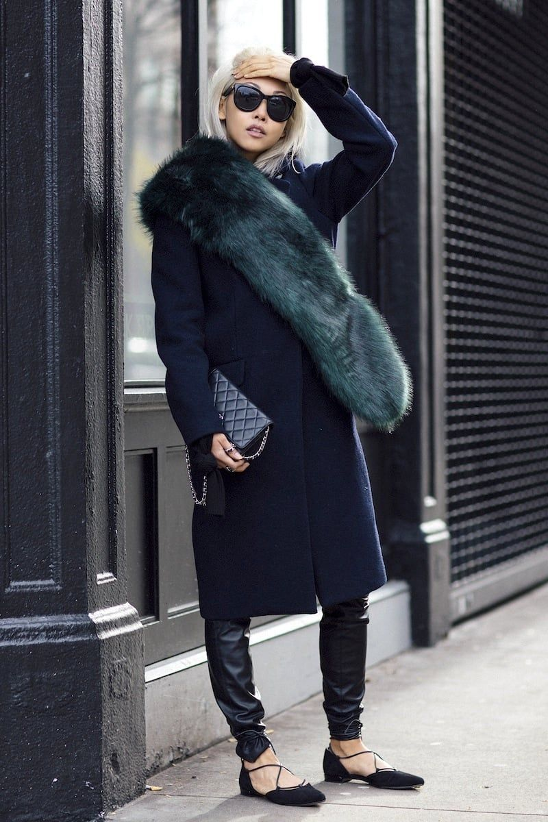 An Incredibly Chic Way To Wear A Fur Scarf (The Edit)