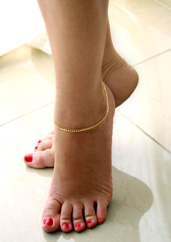 Ankle Bracelet, Gold Ankle Bracelet, Gold Bracelet, Delicate bracelet, Wedding jewelry, Foot Jewelry, Dainty Bracelet, jewelry bracelet