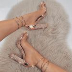 Ankle Rhinestone Heels