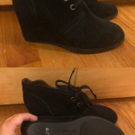 Ankle boot Black suede ankle boot aka shootie! Super cute and never worn outside...