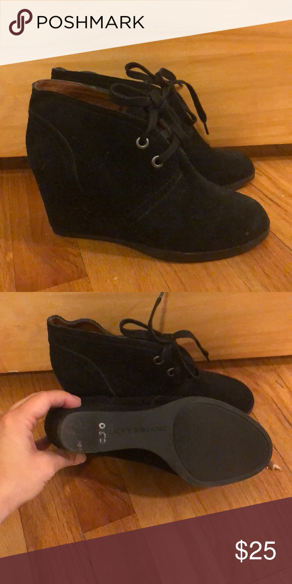 Ankle boot Black suede ankle boot aka shootie! Super cute and never worn outside…
