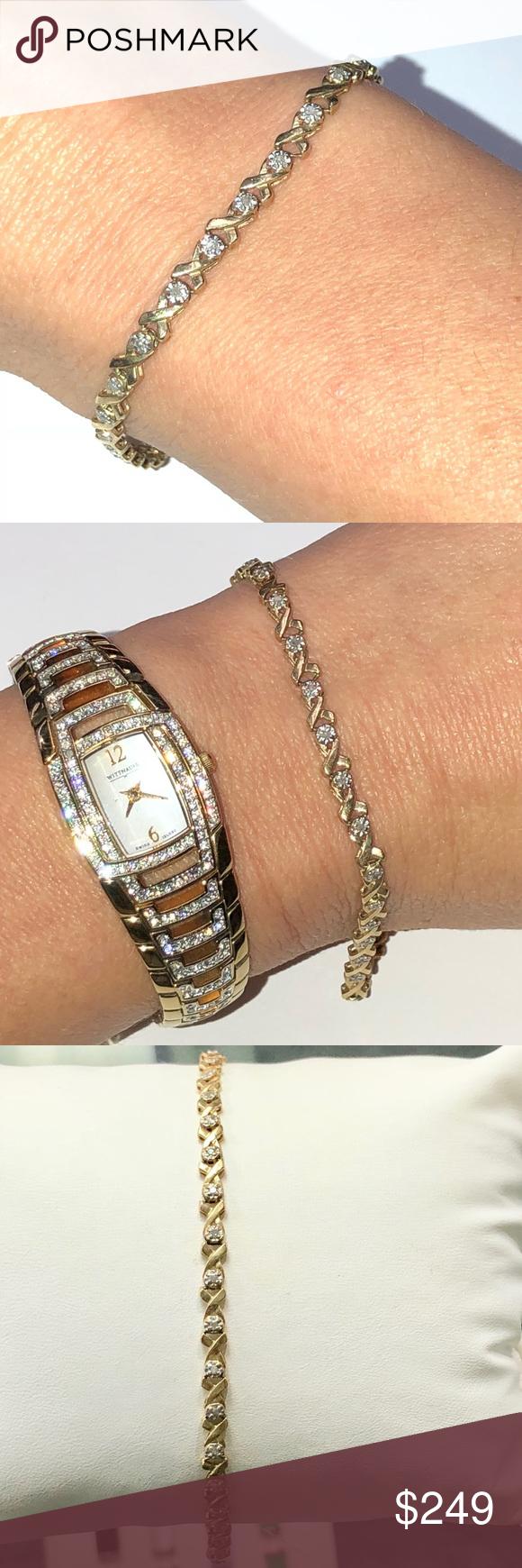 Anne Klein Women's AK/1363SVSV Diamond Dial Silver-Tone Bracelet Watch