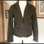 Anthropologie Hei Hei Delanie Blazer UK 8 Olive green/true khaki color and navy ...