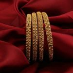 Anuradha Art Jewellery offers beautiful collection of traditional bangles in cla...
