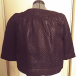 Apt 9 Jackie O Style Cropped Shrug/Coat/Cover-Up Shimmery Black half sleeved cro...