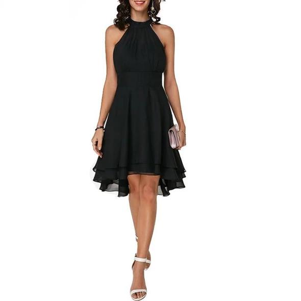 Arabella – Halter Neck Chiffon Layered Dress