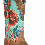 Ariat Women's Circuit Champion Dusty Brown with Turquoise Floral Print Western W...