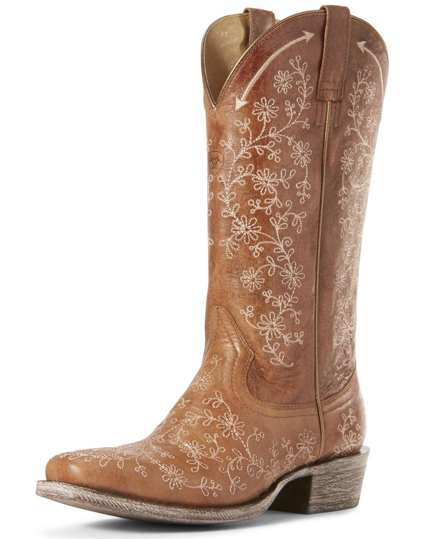 Ariat Women's Fleur Cashew Western Boots – Square Toe