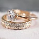 Art deco engagement ring Vintage antique Emerald engagement ring yellow gold Alternative Unique Delicate Diamond wedding women Jewelry