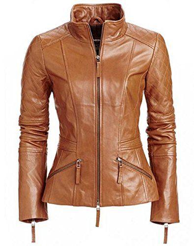 Artfasion Womens Slim Tailoring Faux Leather PU Short Jacket Coat Moto Biker Jacket