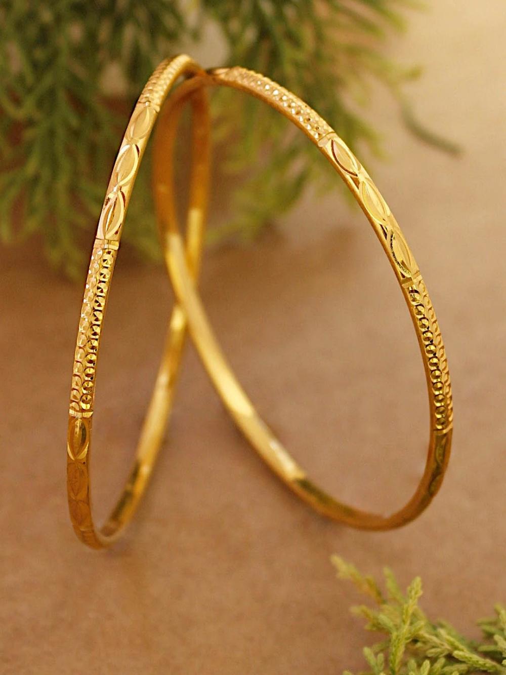 Avismaya Gold Plated Daily Use Thin Bangles – Jumkey Fashion Jewellery