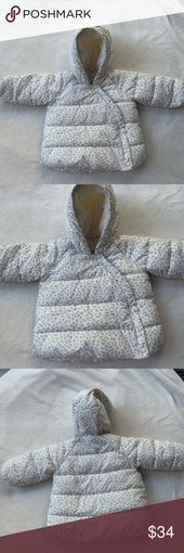 BABY GAP girls 12-18M leopard print winter coat This a baby girl size 12-18 mont…