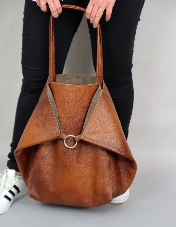 BROWN LARGE LEATHER Bag Shoulder bag, Brown Slouchy Tote, Brown Handbag for Women, Soft Leather Bag, Every Day Bag, Women leather bag